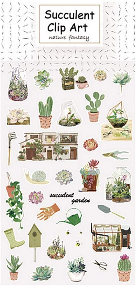 Cactus Kanggest.Pegatina de Diario Papel Diario Pegatinas DIY Decoraci/ón Bullet Journal el Collage Memo Scrapbooking Notebook Regalos a Mano