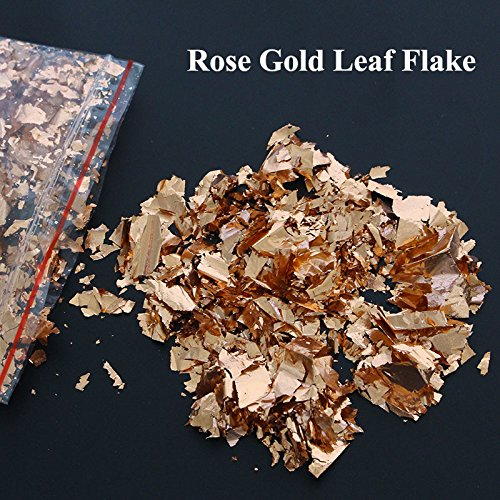 15gram-rose-gold-leaf-flake-shinningdecoration-ornament-glass-craft-drawing