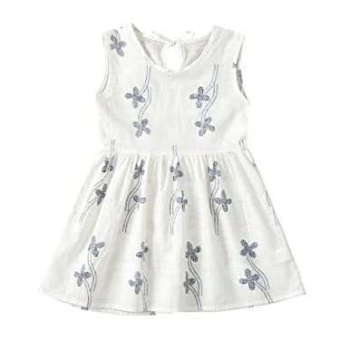 Vestido para niña Puntos Floral Imprimir Vestido de Bowknot ...