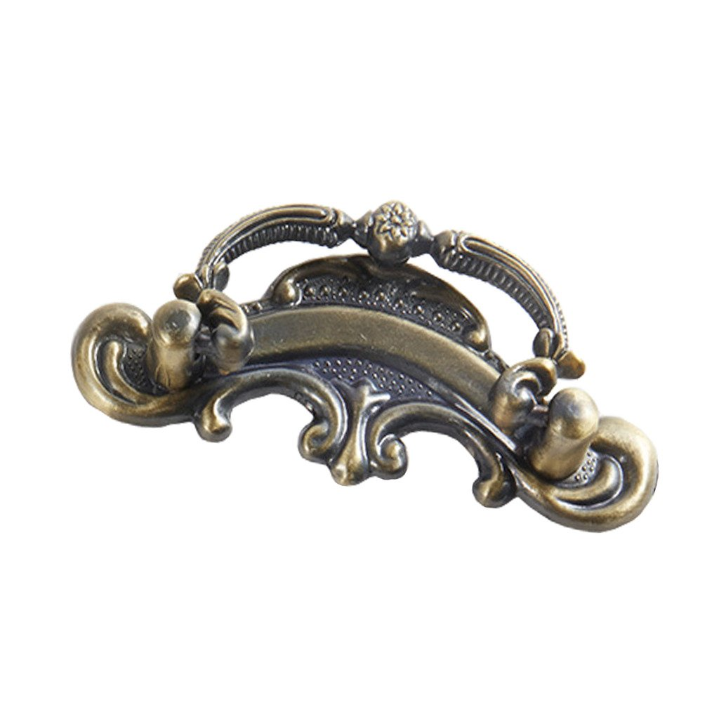 Globalwells Luxury Retro ring style Cabinet Drawer Wardrobe Pull Handle Hardware 2-1/2'' (64mm) Hole Centers-10 Pack
