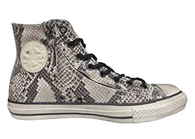 e70211adee4 Converse John Varvatos Double Zip Hi Top White Snake Skin Mens 12