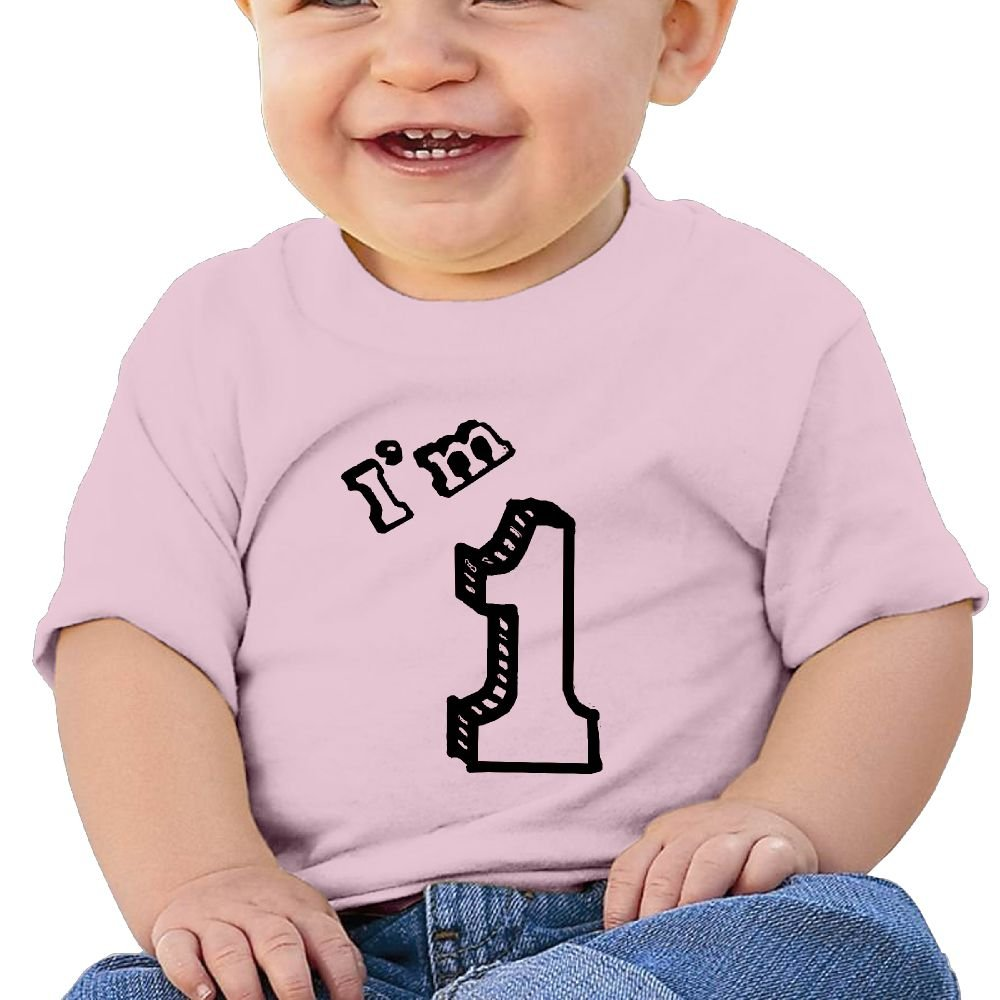 Arsmt Baby Boys Toddler//Infant Kids Im 1 Year Old Shirt