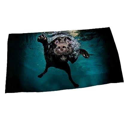 LanS Toalla de Playa de la Microfibra Buceo Creativo de la Natación Moda del Perro Toalla