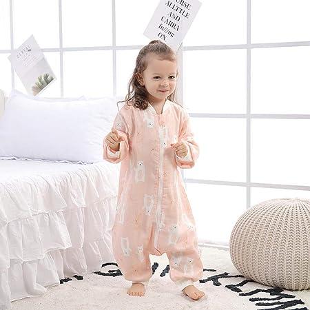 B/H Bolsa de Descansa para Bebé,Saco de Dormir de Gasa de algodón para bebé, Saco de Dormir sin Mangas con Estampado y Pierna Dividida-C_73,Cómodo Saco de Dormir para bebé: Amazon.es: Hogar
