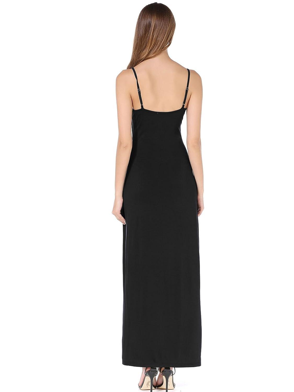 b259a0ef3e475 VETIOR Women's Adjustable Spaghetti Straps Long Cami Slip Dress at Amazon Women's  Clothing store: