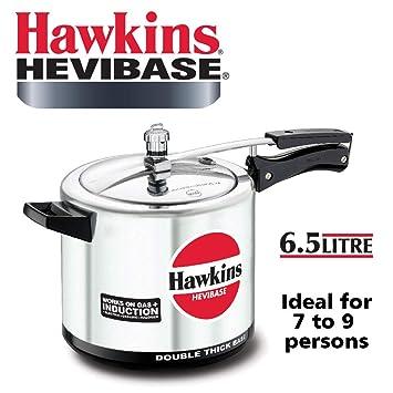 9b19c54b2 Hawkins Aluminum Pressure Cooker 6.5 Liter - Silver (HWN_IQ74_BLK ...