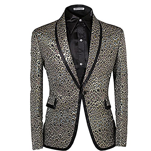 Cloudstyle Mens 2 Piece Suit Single Breasted One-Button Shawl Collar Tuxedo Pants Set