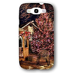 Country Christmas Tree Lights and Barn Samsung Galaxy S3 Slim Phone Case