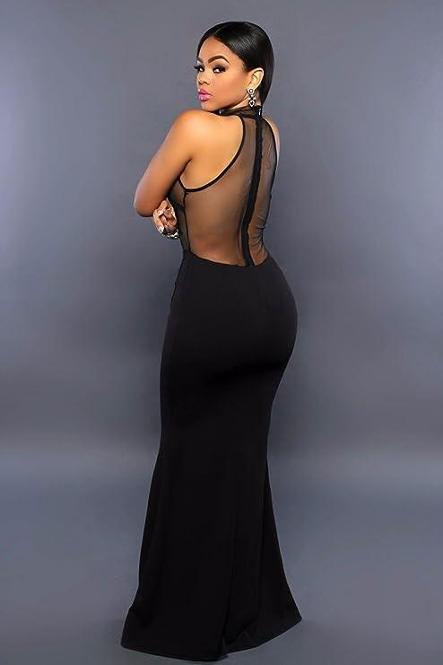 Vestidos de Fiesta de Noche Elegantes De Mujer Casuales Largos para Prom Quinces Bodas VE0021 at Amazon Womens Clothing store: