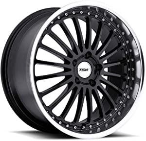 "TSW Silverstone Gloss Black Wheel with Machined Lip (18x8""/5x110mm)"