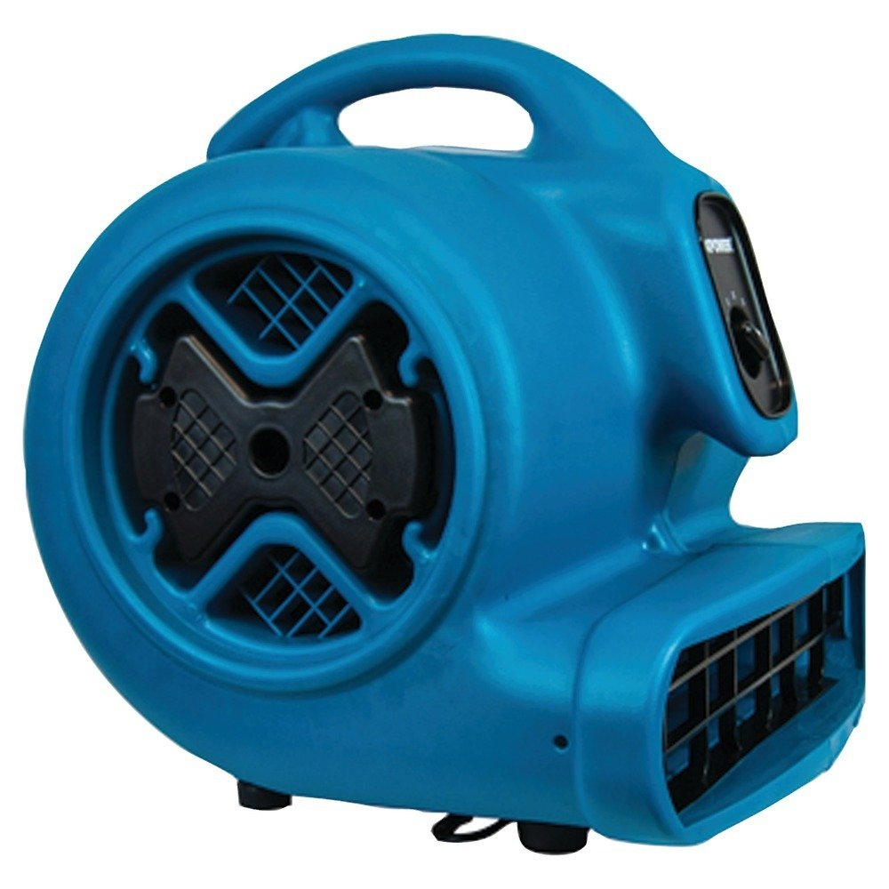 XPOWER P-630 1/2 HP 2800 CFM 3 Speed Professional Air Mover Carpet Dryer - Blue