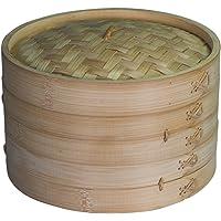 Avanti 25cm 2 Tier Asian Bamboo Basket Steamer Set Steam Cook Dumpling/Dim Sum