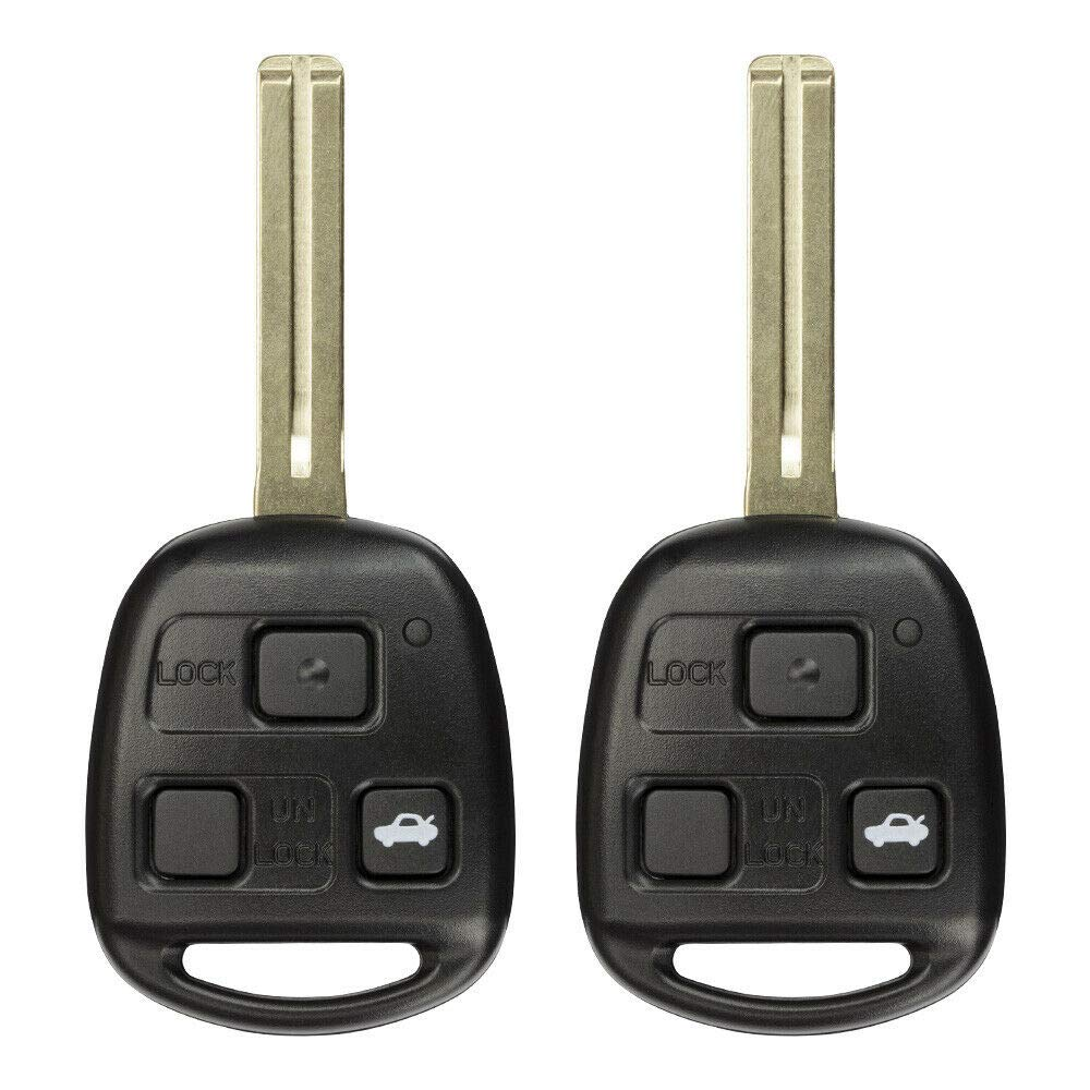 2 Pack FikeyPro Keyless Entry Remote Key Fob for Lexus GS is ES LS 3-Button Uncut HYQ1512V