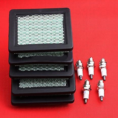 5sets filtro de aire y bujía para Honda GC160 GCV135 GCV160 GCV190 ...
