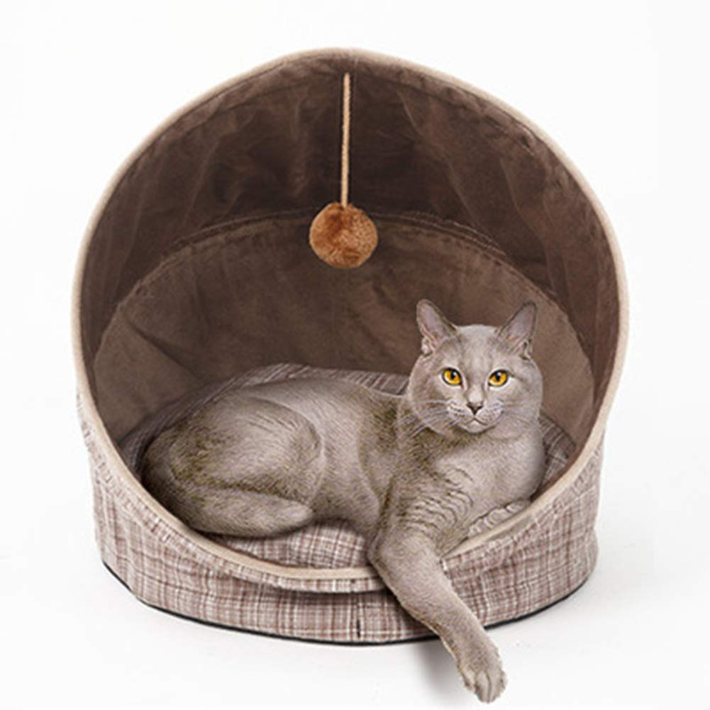 GKBMSP Foldable cat nest cat Bed Non-slip Foldable with Removable Cushion Four seasons use Pet House Bed Suitable for cats, small dogs