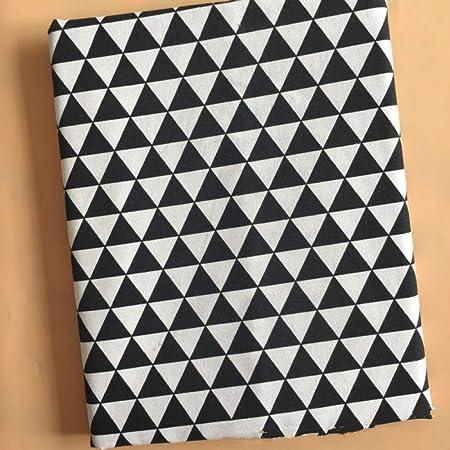 SLMJ Tela de algodón de Lino Impresa Tela de Lienzo de Costura de Bricolaje Tela de Lino de algodón Acolchado Material de artesanía Mantel Textil Funda de Almohada-Estilo N_El 100x150cm: Amazon.es: Hogar