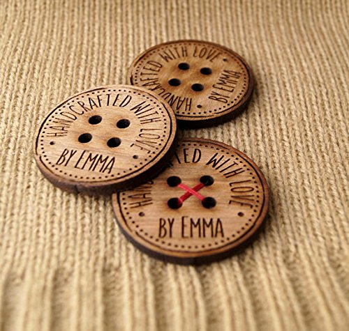 labels for handmade items personalized wooden buttons custom made