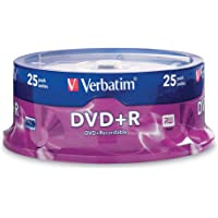 Verbatim DVD+R 4.7GB 16x AZO Recordable Media Disc - 25 Disc Spindle - 95033
