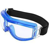 Ginyia Niños Antiniebla A Prueba de Polvo Gafas Impermeables Unisex Niño Ciclismo A Prueba de Viento Gafas Protectoras de Seguridad, Anti-Impacto y a Prueba de explosiones(Azul)