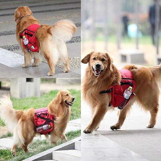 Ttyhch Pet Saddle Bag Dog Backpack Ajustable Impermeable Arnés ...