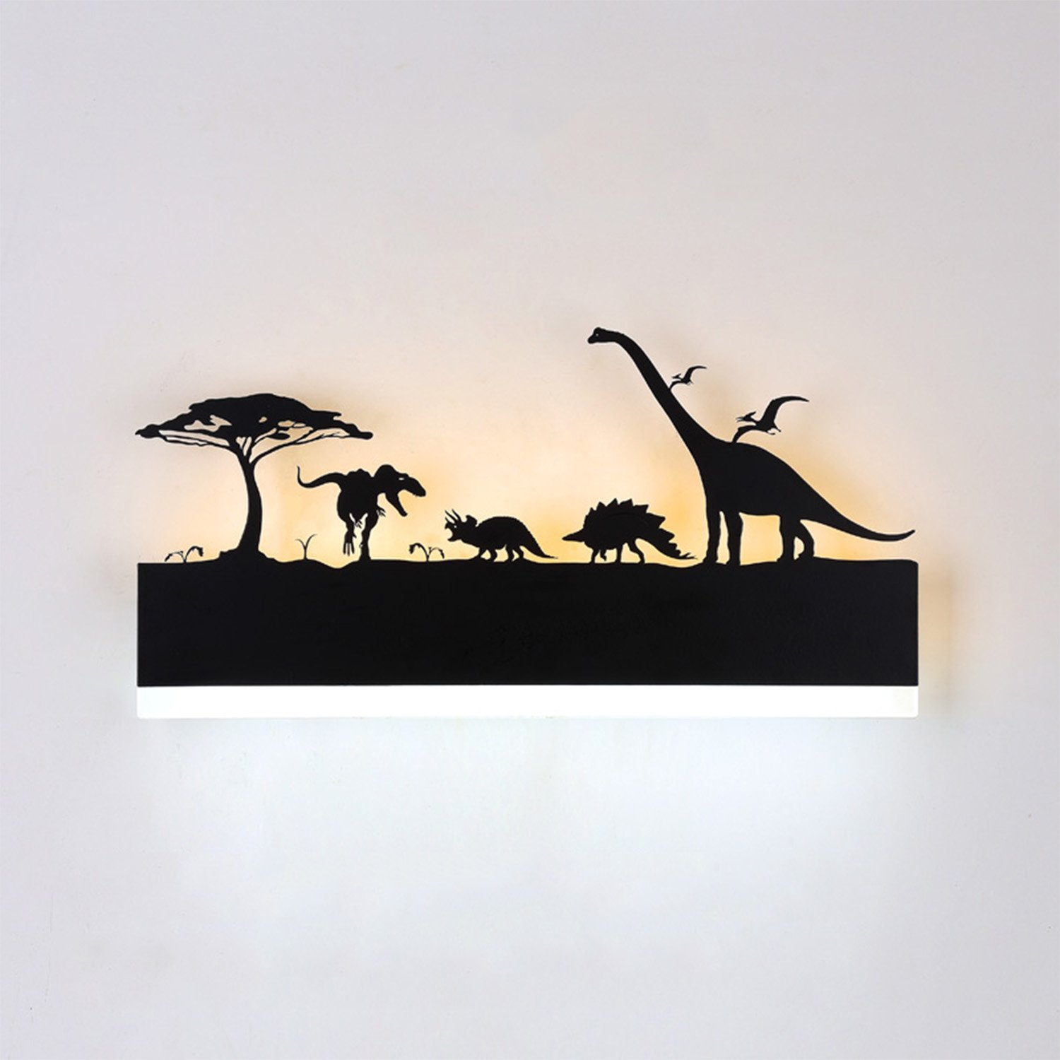 Augrous Wall Light LED Up and Down Indoor Lamp Dinosaur Design for Living Room Hallway Mural Lamp