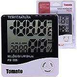 Relógio Termo Higrômetro Temperatura e Umidade PD003 Tomate