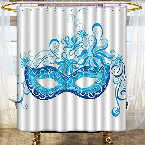 Mikihome Shower Curtain Customized Mask Impersonating Enjoying Halloween Theme Print Bathroom Set with Hooks W72 x H90 -