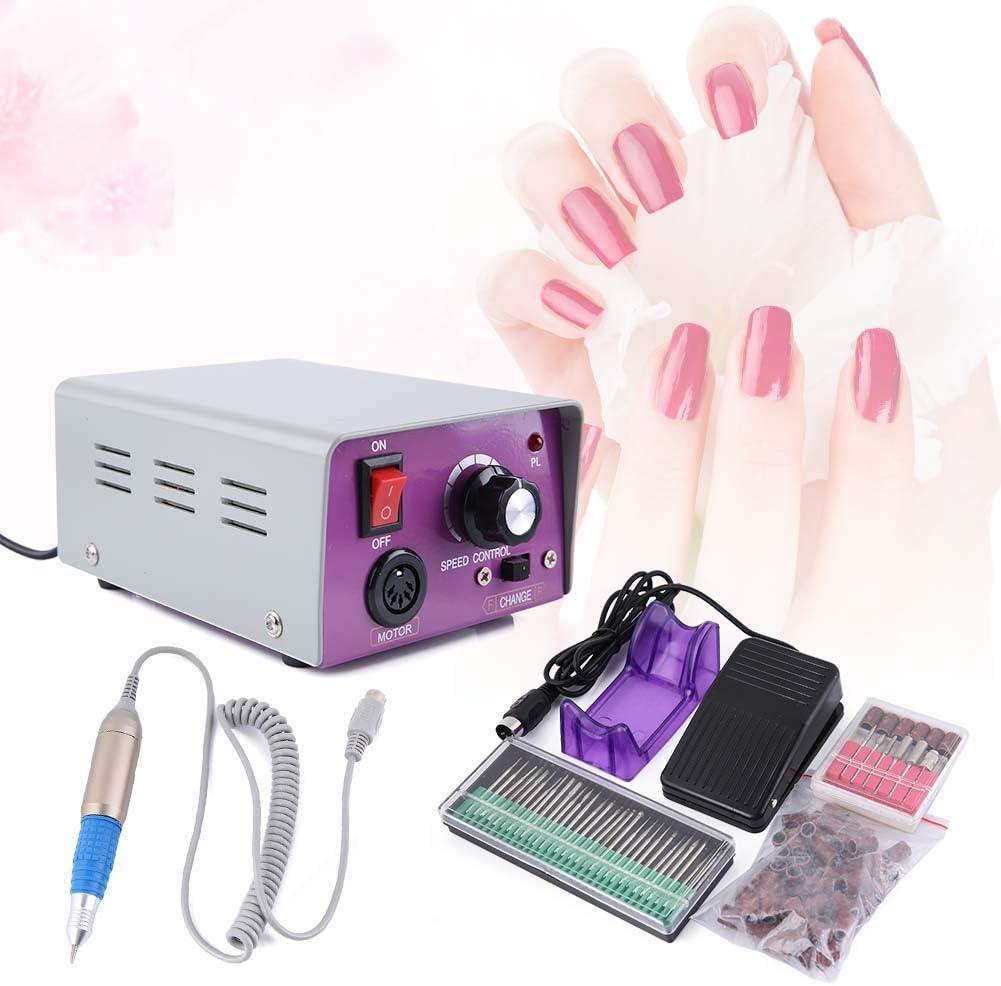 Lima de uñas eléctrica, 25.000 U/min, profesional, taladro de uñas eléctrico, kit de manicura y pedicura, 220 V, enchufe de la UE: Amazon.es: Salud y cuidado personal