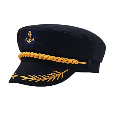 ed9808098691b Fitted Army Cap Men Women Unisex Captain Hats Retro Flat Caps Sun Summer Hats  Black  Amazon.co.uk  Clothing