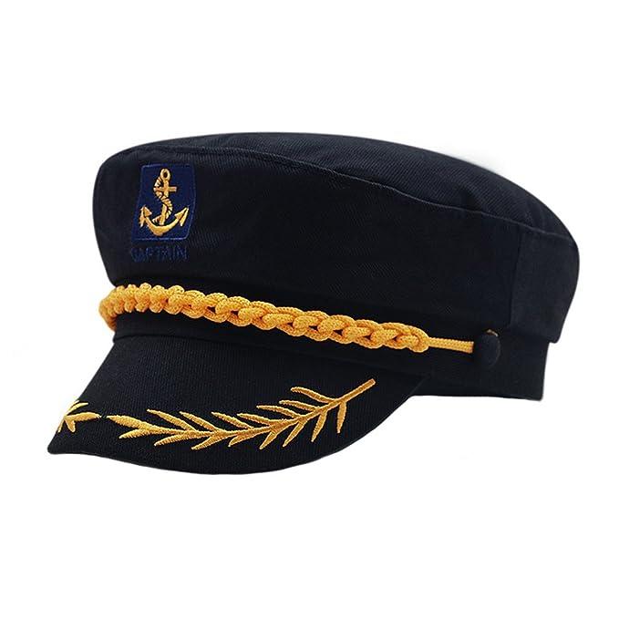 bc2c58661b496 doublebulls hats Fitted Army Cap Men Women Unisex Captain Hats Retro Flat  Caps Sun Summer Hats