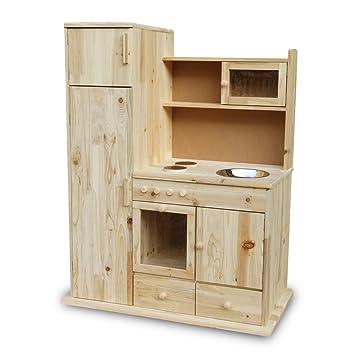 Kinderküche Spielküche Holz Küche Kaufladen Holzküche Holzspielzeug ...