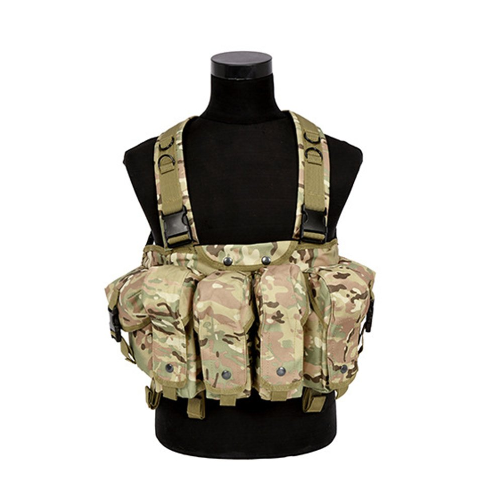 Camouflage3 Tactical Vest Military Airsoft Paintball Vest Lightweight Molle Vest