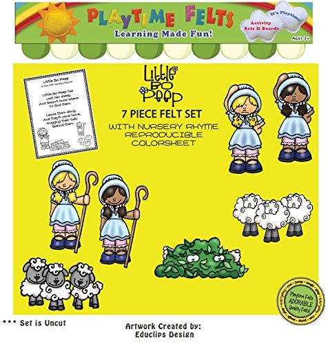 Little Bo Peep Nursery Rhyme Felt Figures ()