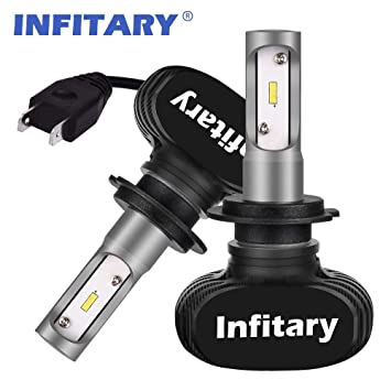Bombillas LED para faros delanteros, H7 kit de conversión de faros delanteros con chips CSP