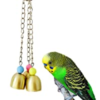 Keersi Bird Sweet Bells Chew Toy for Parrot Macaw African Grey Budgie Cockatoo Parakeet Cockatiels Conure Lovebird Finch Cage Toy