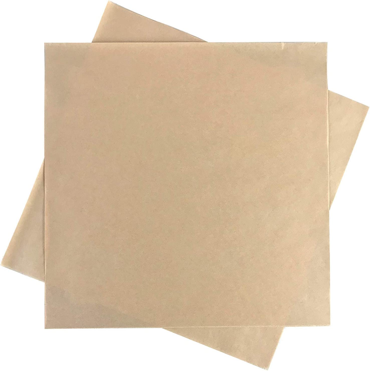 Brown Natural Kraft Paper Wrap Natural Kraft 12 x 12 inch Deli Paper Food Basket Liners - Great for Wrapping Sandwiches (50)