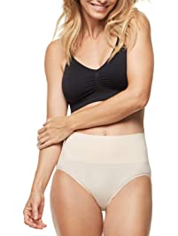 ESSENTIALS BY TUMMY TANK Womens Seamless Smoothing Everyday Shaping Brief Shapewear Briefs