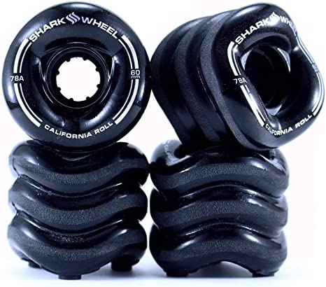 Shark Wheel Cruiser Wheels 60mm White California Roll Skateboard Wheels