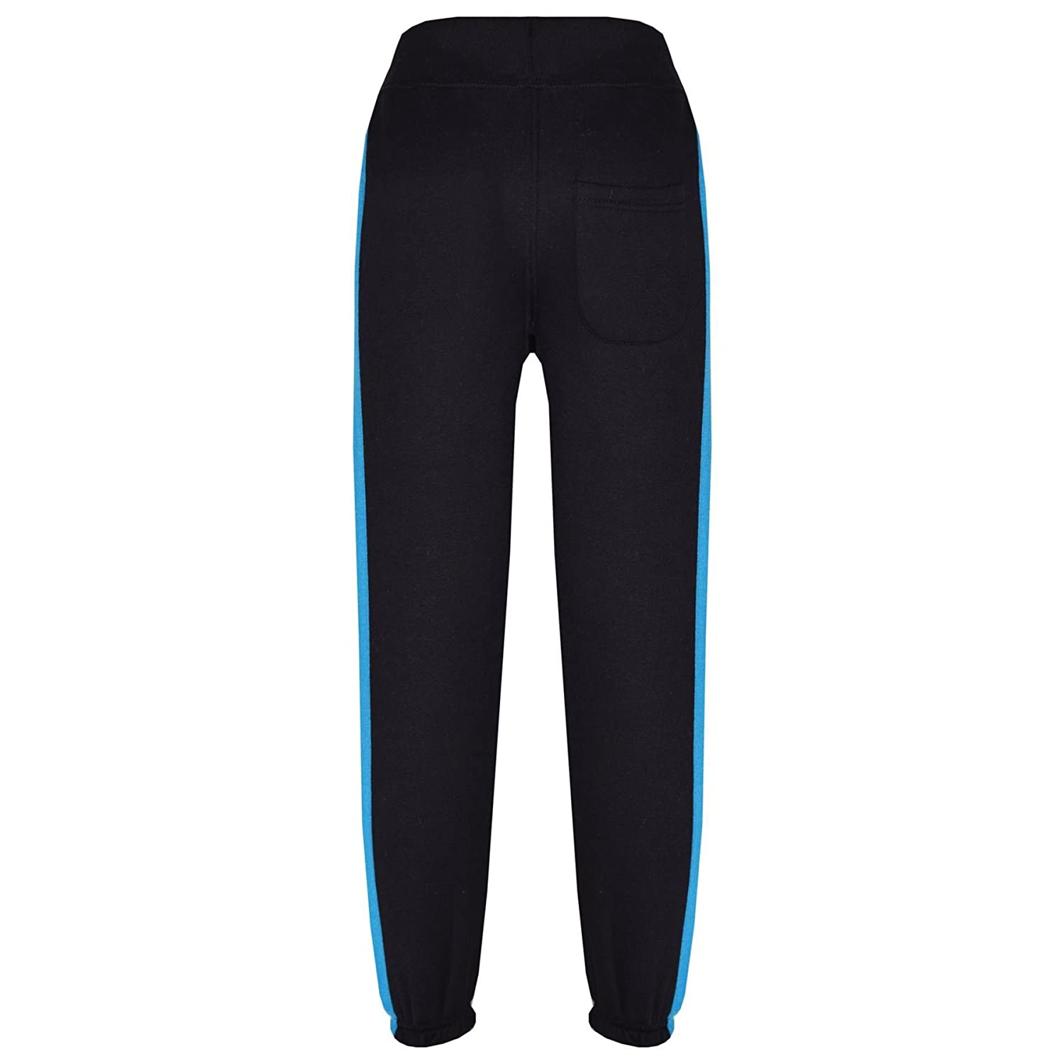 Kids Boys Girls Joggers Contrast Panel Jogging Pants Casual Trousers 5-13 Years