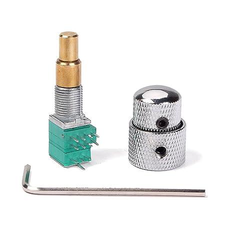Potenciómetro W / Interruptor Giratorio Estriado del Eje para Guitarra - #1