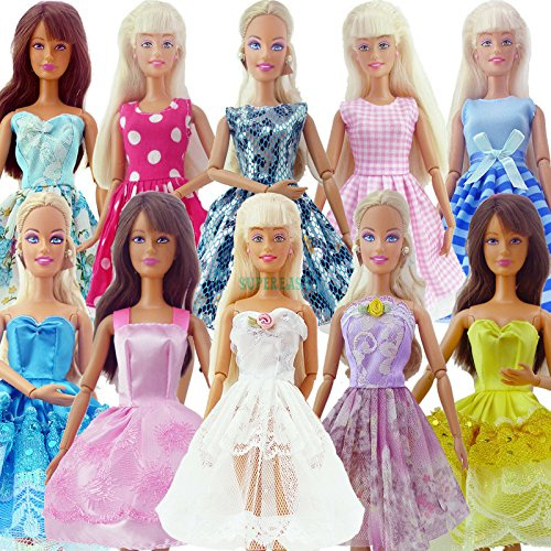 Bride Costume Target - Phantomx 10 Pcs Handmade Dress Wedding Party Mini Gown Fashion Clothes For Barbie Doll
