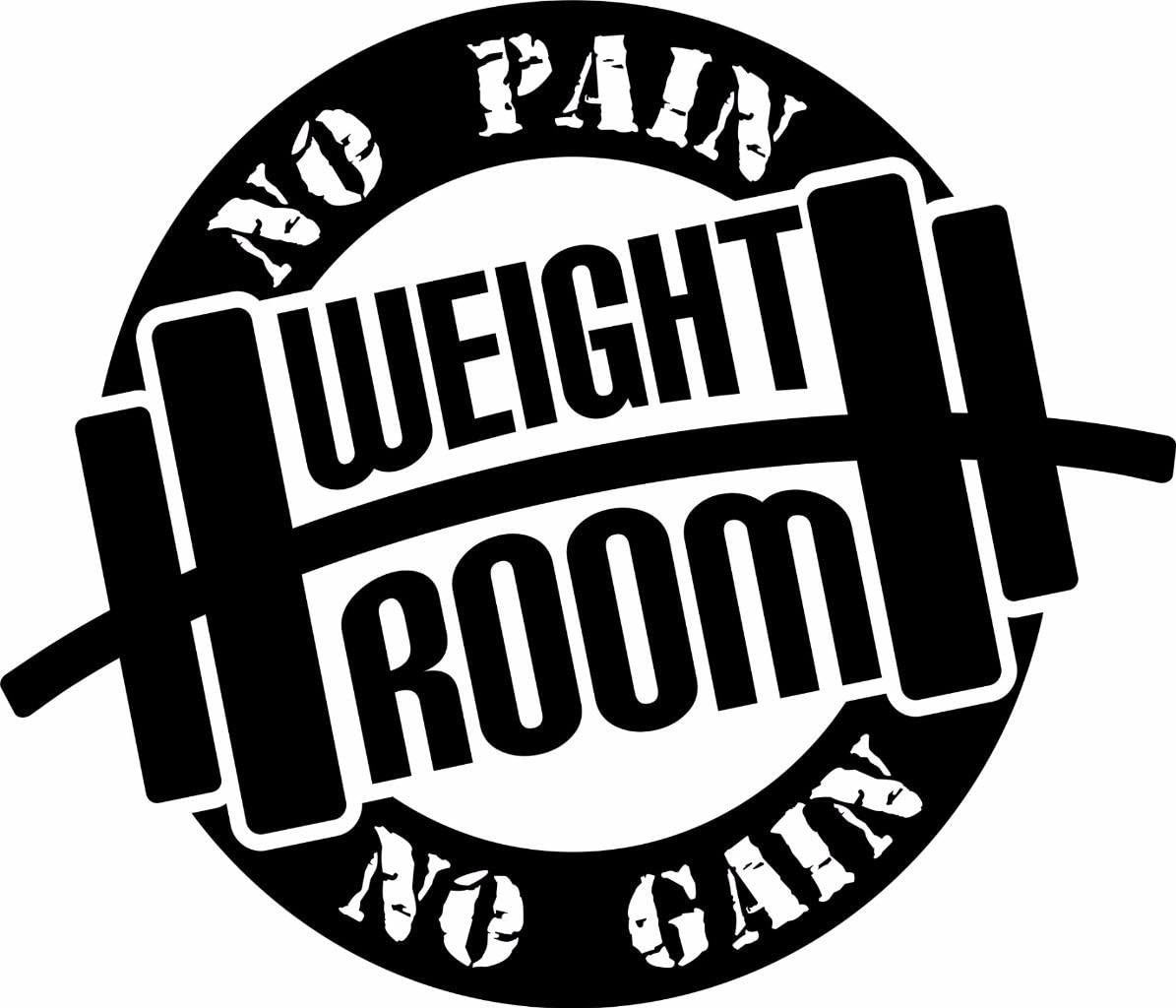 Weight Room No Pain No Gain Quote- Motivation Workout Lifting Quote Vinyl Wall Sticker Decal for Gym Home Decor - 14 inch x 12 inch