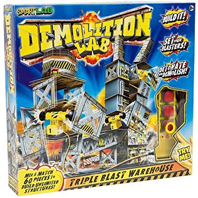 SmartLab Toys Demolition Lab Triple Blast Warehouse: Toys & Games [5Bkhe0206320]