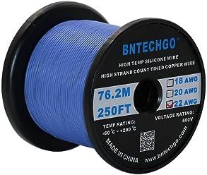 BNTECHGO C/âble ruban en silicone calibre 28 C/âble plat 4P 28 AWG Flexible en caoutchouc de silicone souple Haute temp/érature 200 degr/és C 600 V 4 broches Noir 7,6 m