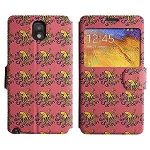 Be-Star Diseño Impreso Colorido Slim Casa Carcasa Funda Case PU Cuero - Stand Function para Samsung Galaxy Note 3 III / N9000 / N9005 ( Silly Octopus )