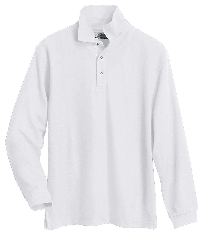 Tri-Mountain Men's PolyCotton Easy Care Pique Knit Cook Shirt -4 Colors, S-4XL-