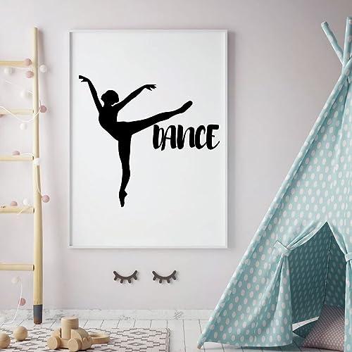 M Ballerine Wall Decal Stickers Home Room Decor Art amovible de type 1