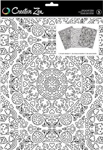 American Crafts Coloring Folder Creative Zen Kaleidoscope 3 Piece
