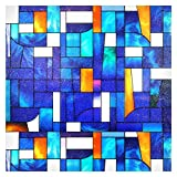BDF 3ABST Window Film 3ABSTract Stained Glass (36in X 65feet, 30 patterns)