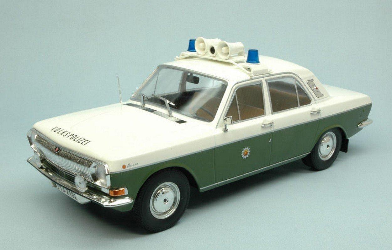 NEWES MODELCARGROUP MCG18015 Volga M24 1967-1992 VOLKSPOLIZEI 1:18 MODELLINO Die Cast